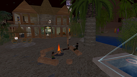 Beach House at Night SL